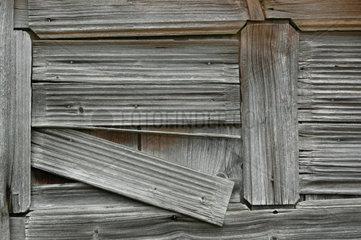 Bretter von einem alten Schuppen
