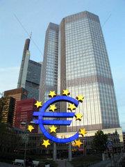 Verwaltunggebaeude der Europoeischen Zentralbank in FrankfurtMain