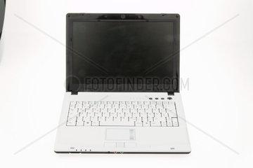 Weisser Laptop Computer Isoliert auf weissem Hintergrund