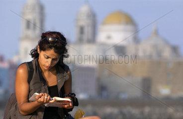 Frau in Cadiz