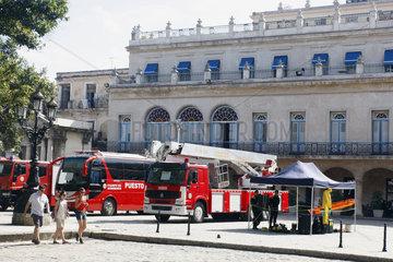 Feuerwehrautos im Havanna