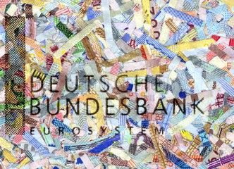 geschredderte Euro-Scheine