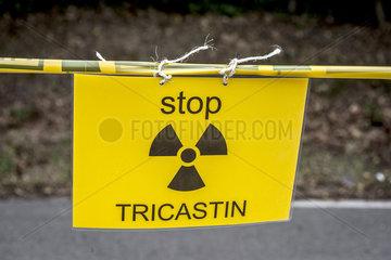 Demonstration am Centre nucleaire Tihange/BEL