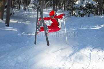 Sturz beim Schifahren