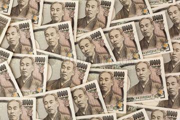 Geld aus Japan Japanische Yen Geldscheine