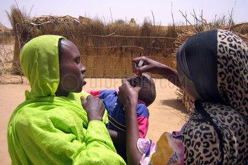 Fluechtlingscamp bei Abeche  Tschad