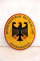 Deutsches Konsulat Schild
