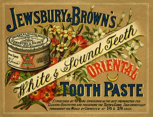 Zahnpasta Jewsbury & Browns  1898