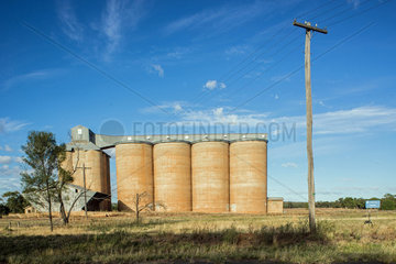Getreidesilos in NSW