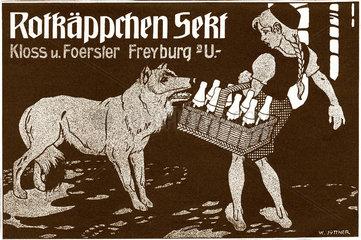 Werbung Rotkaeppchen Sekt 1911