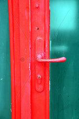 red door frame