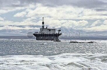 Prudhoe Bay  Alaska/US  Oelfoerder-Plattform
