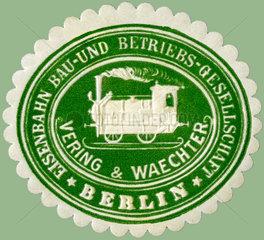 Siegelmarke  Eisenbahnbau-Gesellschaft  1890