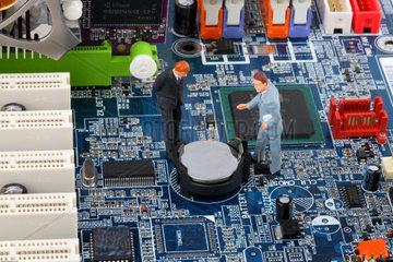 Symbol fuer Computer Probleme und Datensicherheit