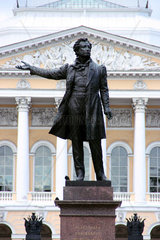 Russland  St Petersburg  Puschkin-Denkmal