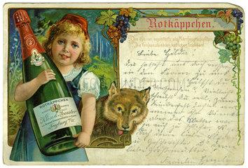 Rotkaeppchen Sekt  Werbepostkarte  1907