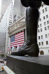 USA  New York  Wallstreet  Boerse  George-Washington-Denkmal