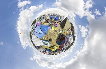 Zeltplatz beim Serengeti-Festival