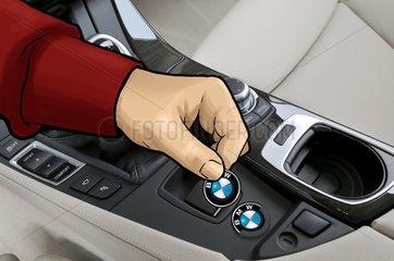 Mittelkonsole im BMW 520i Touring