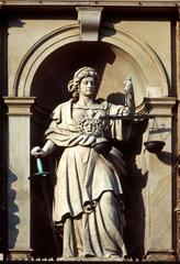 Justitia  roemische Goettin der Gerechtigkeit