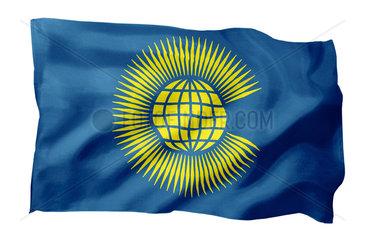 Fahne des Commonwealth (Motiv A; mit natuerlichem Faltenwurf und realistischer Stoffstruktur)