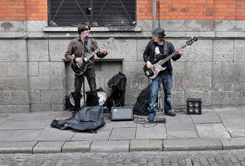 Strassenmusiker in Dublin