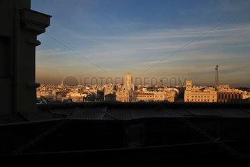 Blick ueber die Innenstadt von Madrid