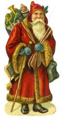 Weihnachtsmann  Poesiebild  1908