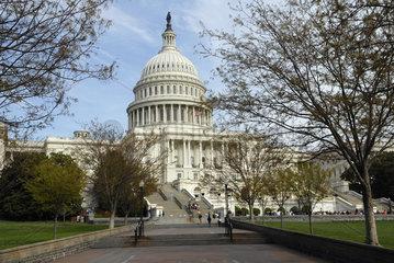 United States Capitol mit Touristen