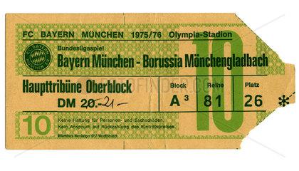 Fussball-Bundesliga  Eintrittskarte  1975
