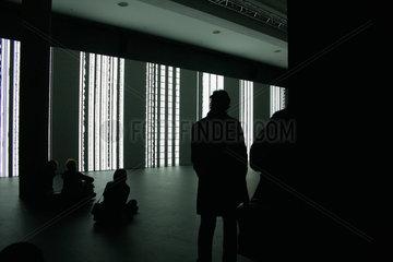 Ryoji Ikeda Installation bei der Transmediale 2010