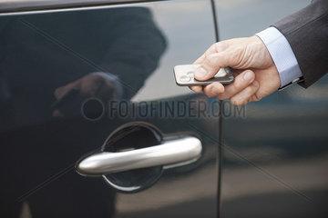 Keyless entry to car
