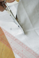 Cutting fabric  cropped