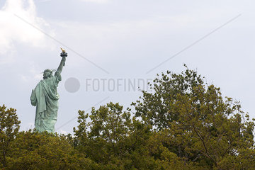 USA  New York  New York City  Statue of Liberty  rear view