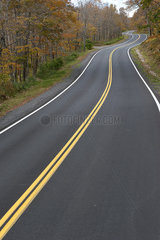 Highway through countryside