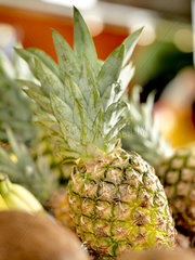 Pineapple in grocery display