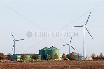 Windkraft und Biogas