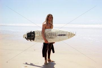 Surfer in Marooko