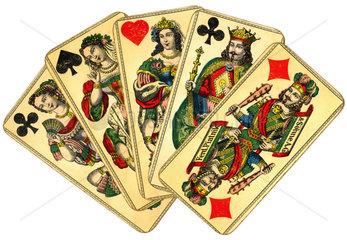 historische Spielkarten der Fa. Piatnik  Wien  1900