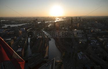 Hafencity und Speicherstadt - Luftbild