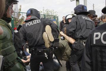 Berlin Erster Mai Sitzblockade