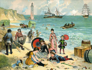 Strandleben  Meer  1885