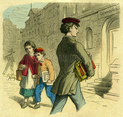 Schueler geht aufs Gymnasium  1850