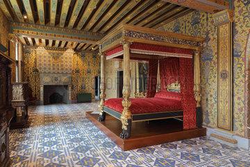 Chambre du Roi  Chateau Royal de Blois  Loir-et-Cher  France