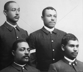 African-American enlisted men  photograph  Fort Davis National Historic Site  Texas  USA