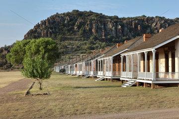 Shared lieutenants' quarters  Fort Davis National Historic Site  Texas  USA