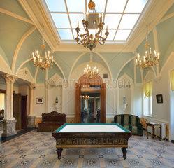 Billiards Room  Chateau de Hardelot  Condette  Pas-de-Calais  France
