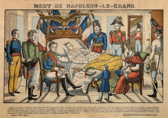 Death Napoleon the Great  engraving  Chateau de Hardelot  Condette  Pas-de-Calais  France