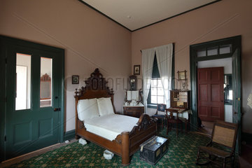 Master bedroom  Commanding Officer's quarters  Fort Davis National Historic Site  Texas  USA