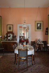 Dining room  Commanding Officer's quarters  Fort Davis National Historic Site  Texas  USA